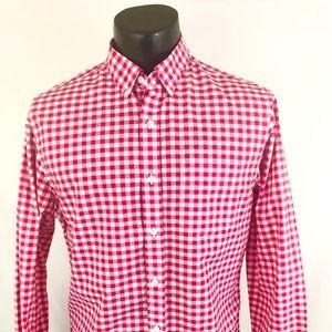 Bonobos Button Up Shirt Checker Pink White M